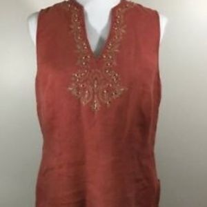 Josephine Chaus Embroidered Sleeveless Top
